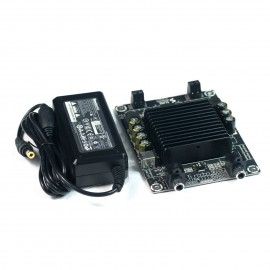 2 X 25 Watt Class D Audio Amplifier TDA7492 (for Gaming Kiosks) w Huntkey 19V 65W Power Adapter