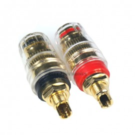 4pcs Gold Plated Speaker Cable Terminal Binding Post