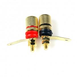 Mini Gold Plated Binding Post 4 Pcs Audio Amplifier terminal Banana Plug Jack
