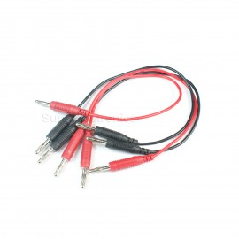 12pcs High temperature test wire 4mm banana plug 0.75mm2 silicone surface 25cm