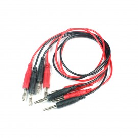 2pcs High temperature test wire 4mm banana plug 0.75mm2 silicone surface 50cm