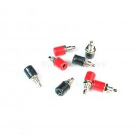 12pcs 4mm banana plug socket long panel copper terminal block Audio sockets