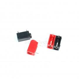 2pcs 4mm PCB Banana Socket Angled panel socket black red