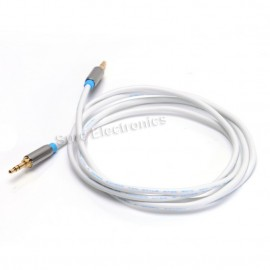1m/1.5m VenTion HIFI Gold Plated 3.5mm Male to Male AUX Audio Cable Black White