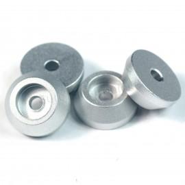 4pcs 15x6mm Speaker Spike Isolation Feet Amplifier Hifi Stand Base Silver
