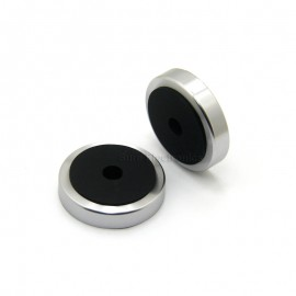 4pcs 50x11mm Speaker Spike Isolation Feet Amplifier Hifi Stand Base Silver