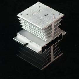 3pcs 2.4x2.4inch Aluminum Alloy Heat Sink for 1W/3W/5W/10W LED Silver White
