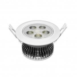 Ceiling light w heatsink and aluminum plate 5 LED panel 5W 15V 300mA Φ108*62mm