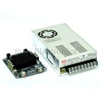 2 X 100W Class D Audio Amplifier Combo Kit w MW 36V 350W Power Supply TDA7498