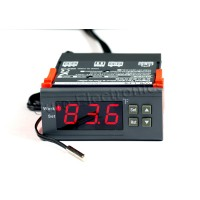 WH7016K+ 24V Digital Temperature Temp Controller Thermostat + Sensor -58℉~230℉