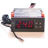 WH7016G 24V Digital Temperature Temp Controller Thermostat + Sensor -50℃~110℃