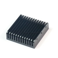 2.3x2.3inch Aluminum Alloy Heat Sink for Audio Amplifier Chip IC Black