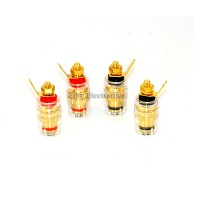 Gold Plated Binding Post 4 Pcs Audio Amplifier terminal Banana Plug Jack