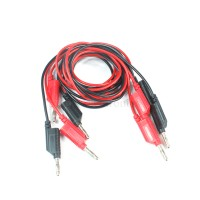 2pcs High temperature test wire 4mm banana plug 2.5mm2 silicone surface 100cm