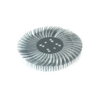2pcs 3.5x0.4inch Round Spiral Aluminum Alloy Heat Sink for 1W-10W LED Silver White