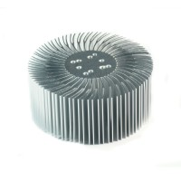 5pcs 3.5x1.5inch Round Spiral Aluminum Alloy Heat Sink for 1W-10W LED Silver White