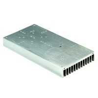 9x4.5inch Aluminum Alloy Heat Sink for 2x20W/30W/40W/50W60W LED Silver White