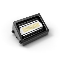 Wall light w heatsink for the new generation of green led lighting 50W black