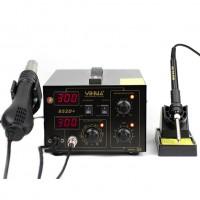 YIHUA852D+ 220V Stazione Saldante SMD 2in1 Rework Station diaphragm pump version