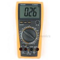 VICHY VC9808+ Digital Multimeter Inductance Res Cap Freq Temp DCV/A + Bag D0134