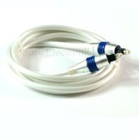 Choseal Gold Plated Digital Audio Optic Toslink Fiber Bold white