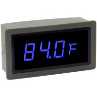 "0.56"" Digital Blue LED Automobile Thermometer Panel Meter Two External Probes"